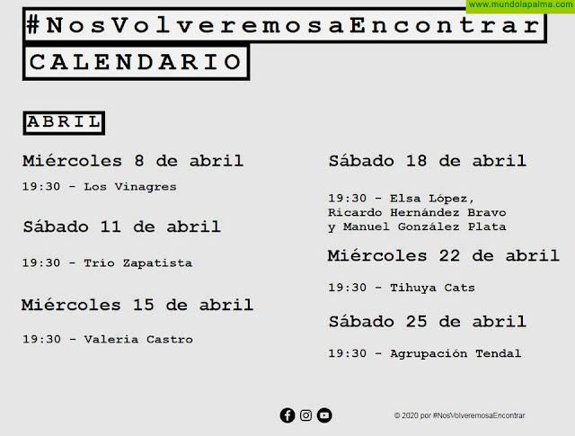 Las actuaciones de Tihuya Cats y  la agrupación Tendal protagonizarán  las próximas citas en la plataforma on line #NosVolveremosaEncontrar