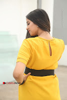 Actress Poojitha Stills in Yellow Short Dress at Darshakudu Movie Teaser Launch .COM 0302.JPG