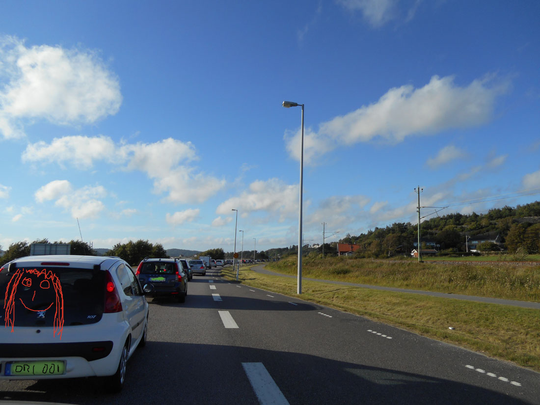 In macchina verso Skärhamn