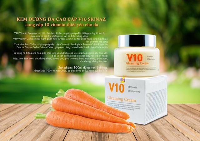 Kem dưỡng da cao cấp V10 Skinaz