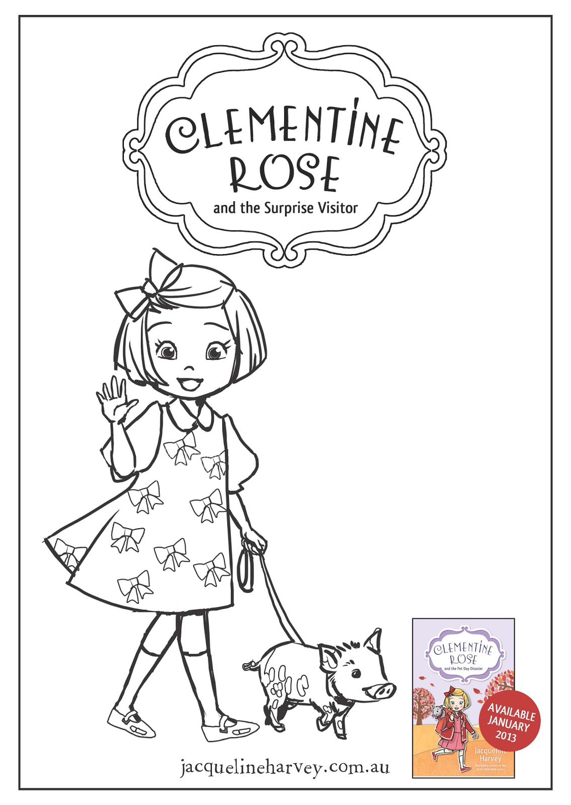 clementine coloring pages - photo#3