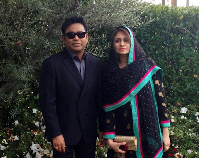 A R Rahman & Saira Banu attend 55th Annual Grammy Awards