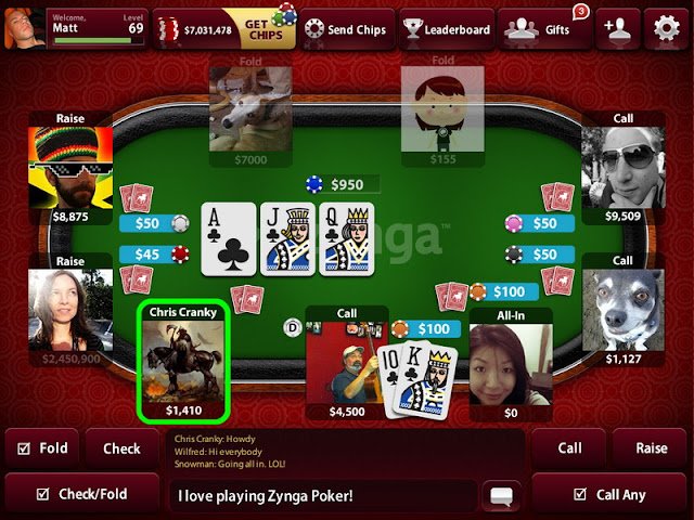 2017 Version Zynga Poker on Windows Phone
