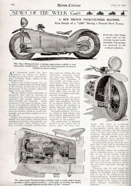 The Majestic Motorcycle 1000cc Cleveland Four Prototype