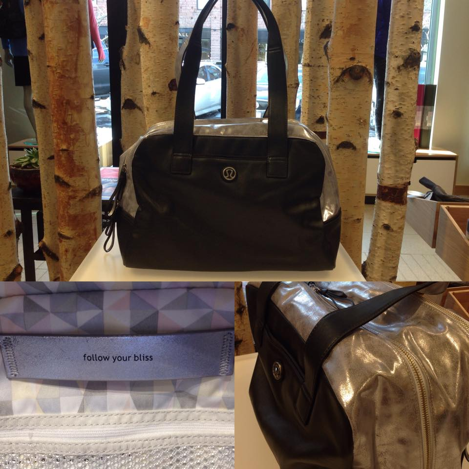 lululemon silver urband sanctuary bag