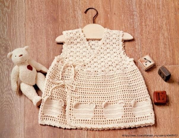 vesstido tejido al crochet esquemas patterns babygirl dress crochet