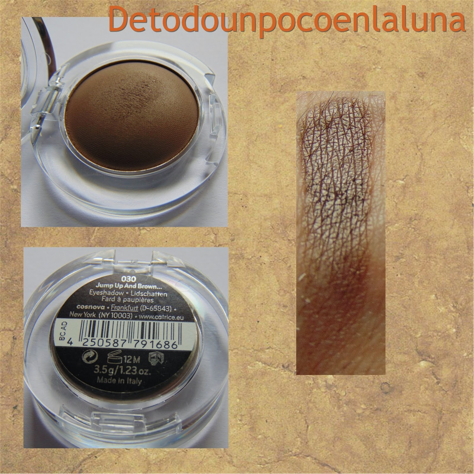 030 Jump Up and Brown Sombras Velvet Matt Eyeshadow de Catrice