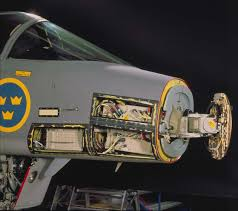 The PS-05A radar mounted on the Gripen