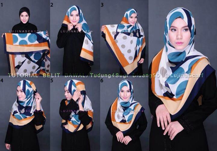 25 Tutorial Hijab Syar I Menutup Dada Modern Dan Terbaru 2017 Tampil Cantik Dengan Hijab