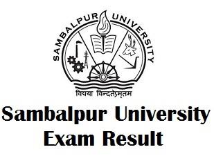 Sambalpur University Odisha Result 2017