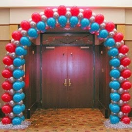 bentuk gate dekorasi balon atau pintu masuk