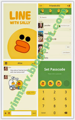 Sally Official Tema Line Android