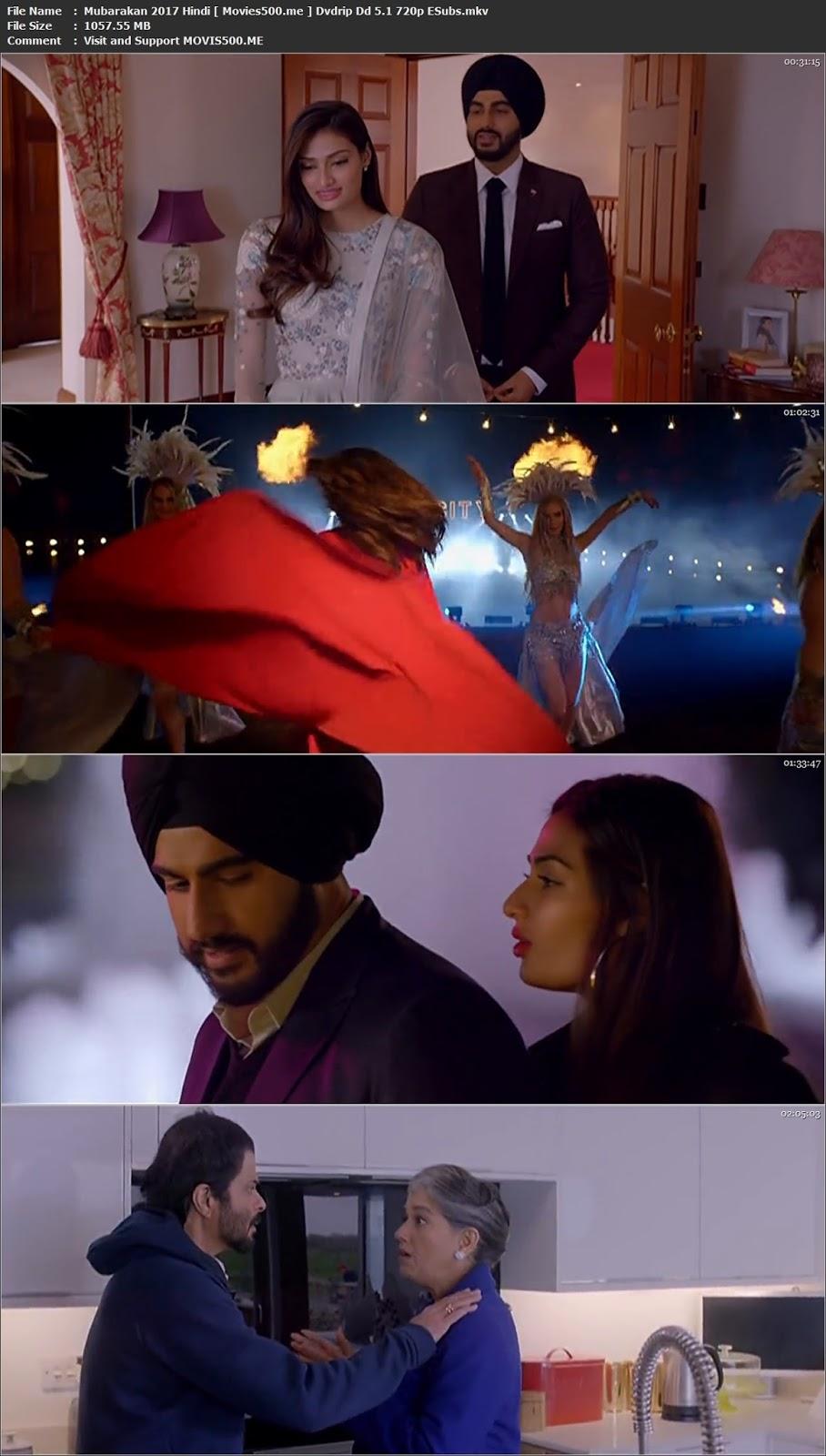 Mubarakan 2017 Full Hindi Movie DVDRip 720p 1GB