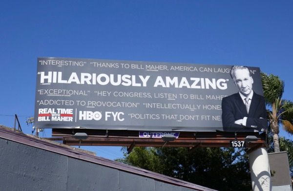 Real Time Bill Maher 2018 Emmy FYC billboard