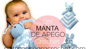 Es hora de tejer para el bebé! Manta de apego crochet con cabeza de coneja
