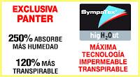 Exclusiva Panter 250% Absorbe humedad - 120% más transpirable
