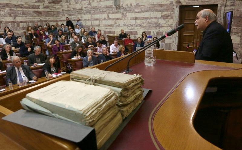 Πλούσιο ιστορικό αρχειακό υλικό ανακαλύφθηκε σε χώρο του Ελληνικού Κοινοβουλίου
