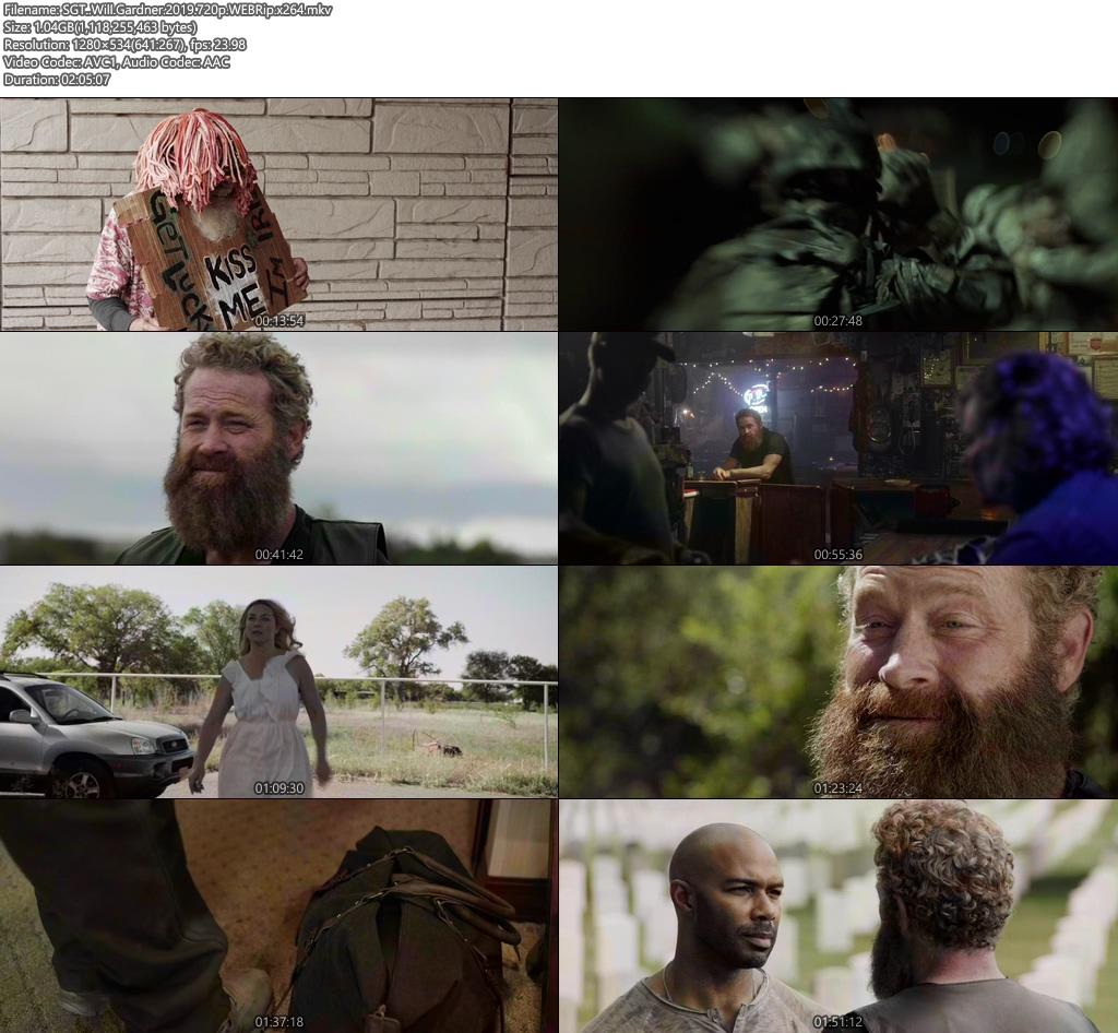 SGT Will Gardner 2019 720p WEBRip x264 | 480p 300MB | 100MB HEVC Screenshot