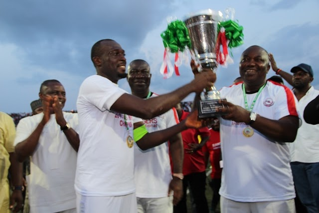 Ugwuanyi Celebrates Rangers Intl's NPFL Title Win