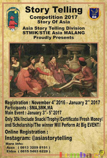 Lomba Story Telling Story of Asia by STEMIK STIE Asia Malang
