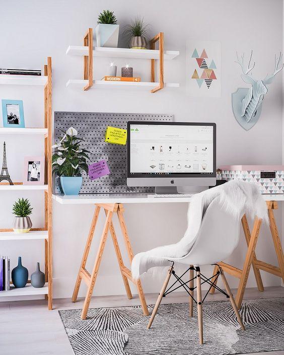 Como Usar Mesa De Cavalete Na Decoração Do Home Office