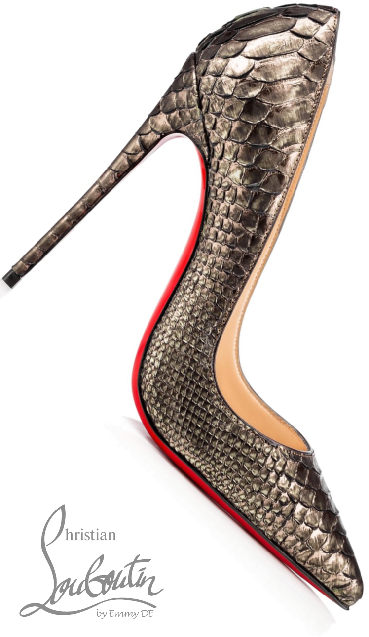Brilliant Luxury ♦ Christian Louboutin So Kate Python Cuirasse Pumps