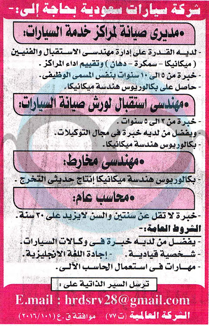 وظائف الاهرام 20 فبراير 2016