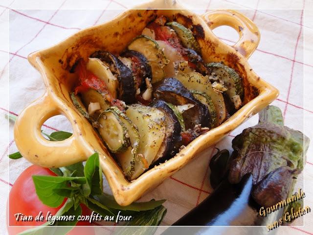 Tian de légumes confits au four