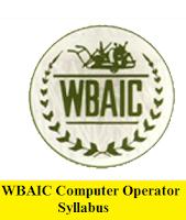 WBAIC Computer Operator Syllabus