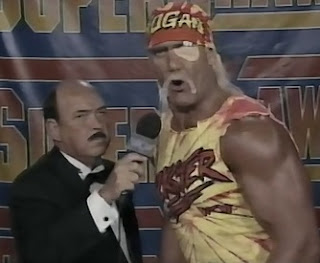 WCW SUPERBRAWL VI 1996 - Hulk Hogan talked about being stabbed in the eye by Ric Flair (with Elizabeth's shoe)