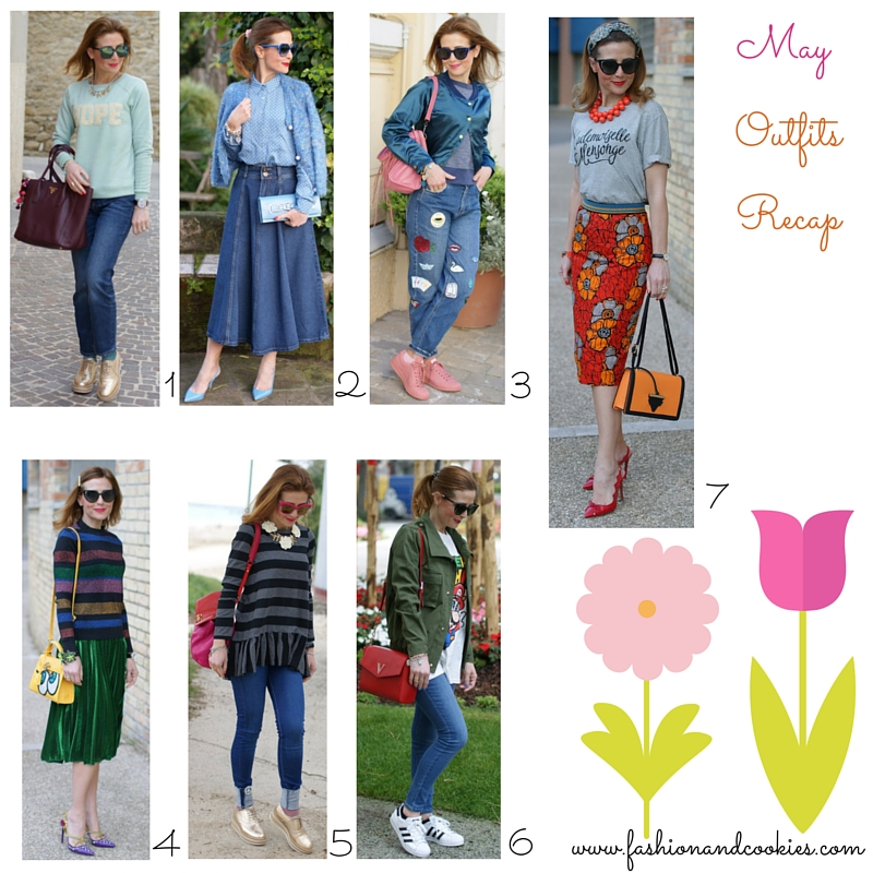 Welcome June !, Fashion blogger outfits recap from May 2016 on Fashion and Cookies fashion blog, fashion blogger style