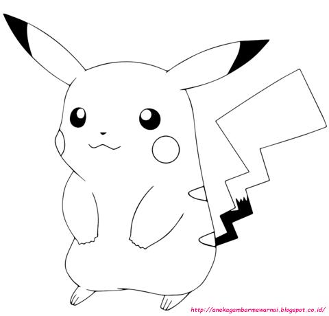 5 Gambar Mewarnai Pokemon Anak Paud Tk Aneka