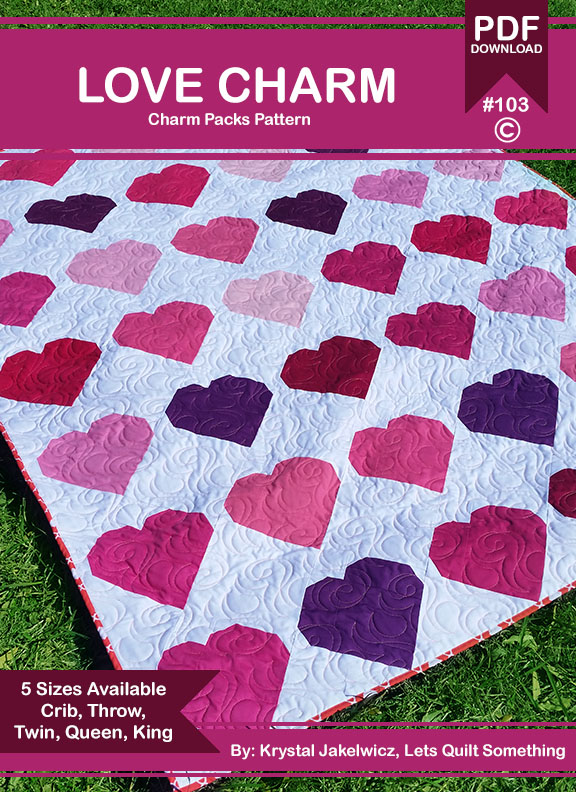 Lets Quilt Something Love Charm Free Quilt Pattern Charm Packs