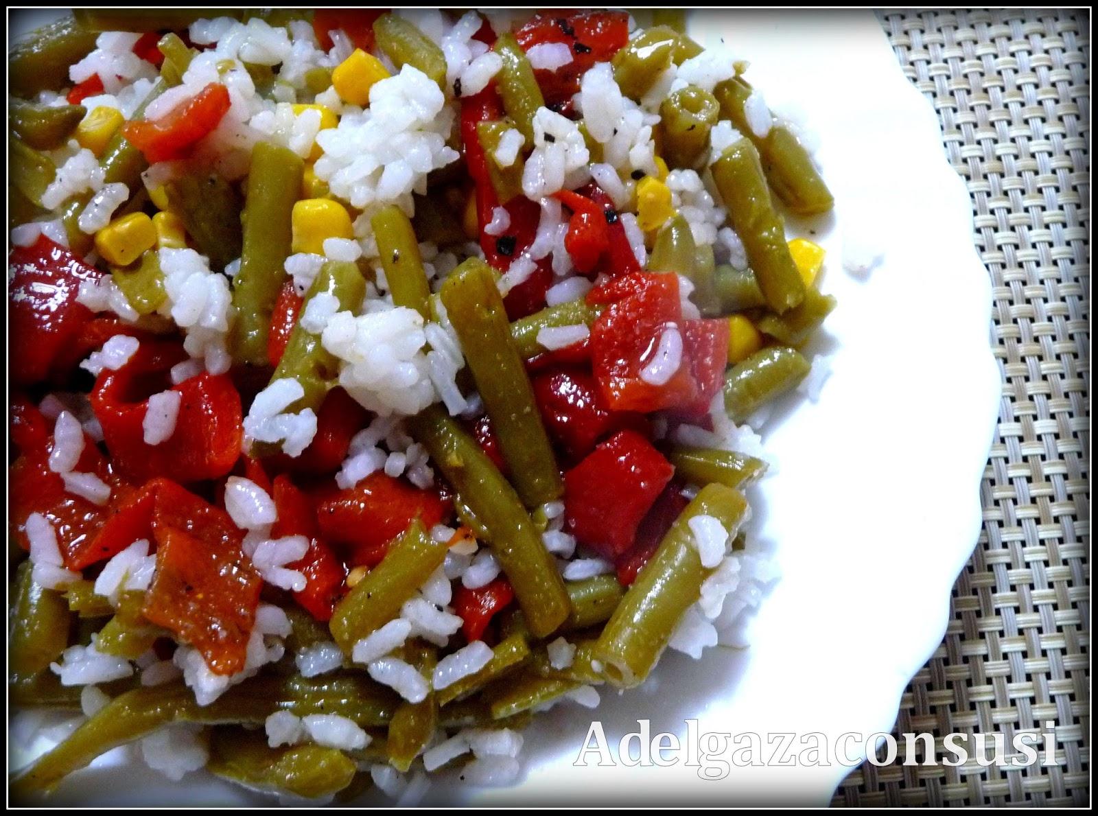 Recetas light adelgazaconsusi ensalada de arroz tricolor - Ensalada de arroz light ...