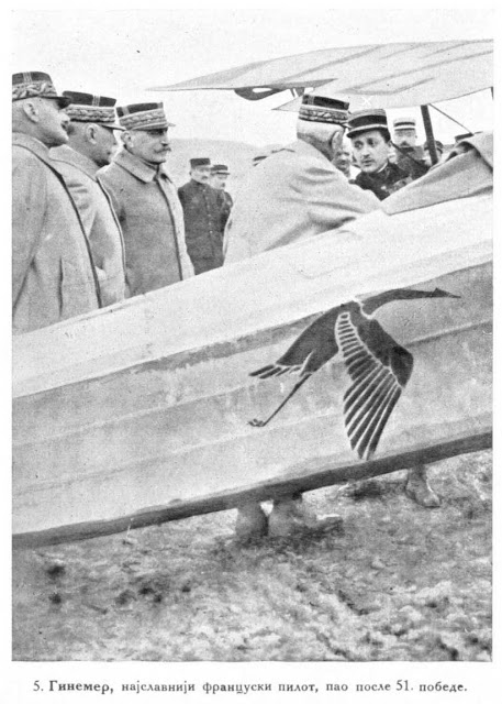 Guynemer the most celebrated French pilot who fell after 51 victories