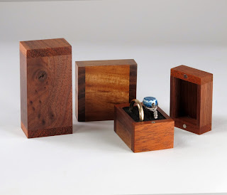 Recycled Wood into Handmade Ring Boxes