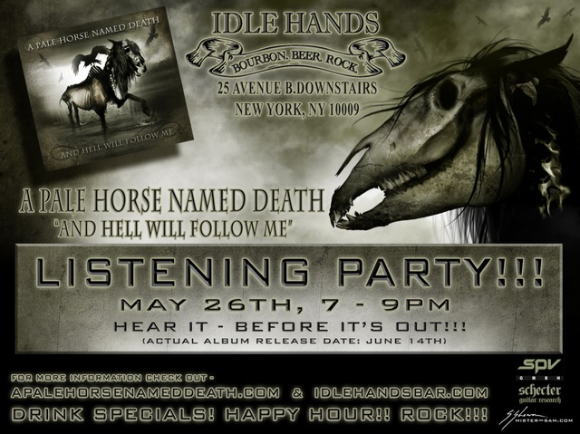 A Pale Horse Named Death Listening Party at Idle Hands Bar