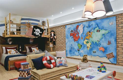 Dormitorio de piratas cuarto para ni os con decoracion de - Habitacion para dos ninos ...