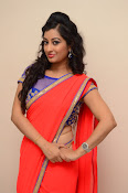 tejaswini sizzling photos in saree-thumbnail-5
