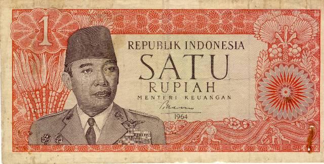 1 rupiah soekarno 1964