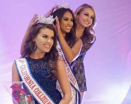 "Leona Koxha wins the crown of ""Miss California Collegiate America 2017"""