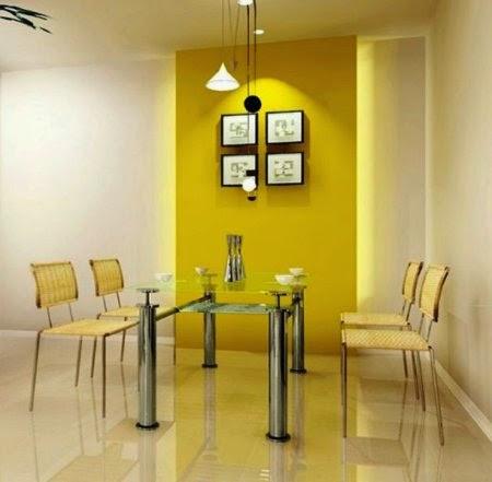 Comedores color amarillo colores en casa - Color paredes comedor ...