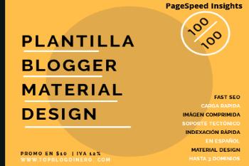 Plantilla para blogger 100/100 en PageSpeed Insights
