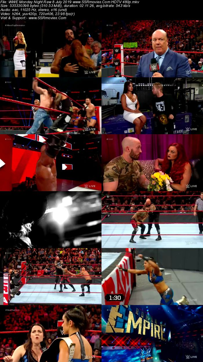 WWE Monday Night Raw 8 July 2019 Full Show Download HDTV WEBRip 480p 720p