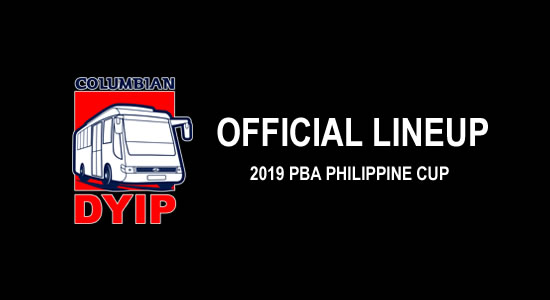 LIST: Columbian Dyip Official Lineup 2019 PBA Philippine Cup