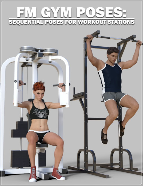 DAZ 3D - FM Gym Poses: Workout Stations