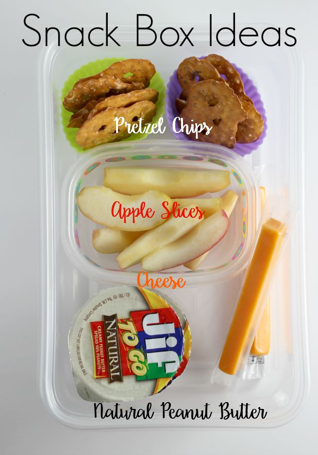 Snack box ideas.  Perfect for families on the go.