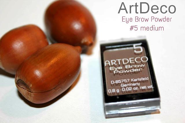 Отзыв: Тени-пудра для бровей ARTDECO Eye Brow Powder в оттенке #282.5 medium.