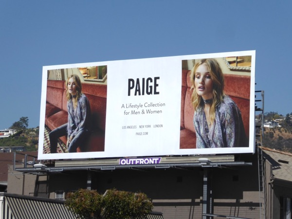 Paige FW17 fashion billboard