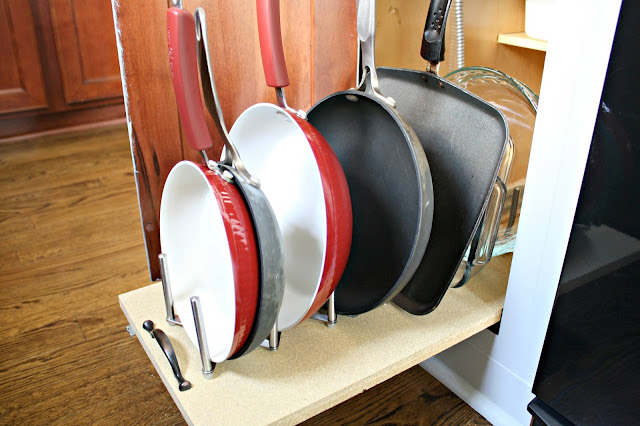 DIY roll out holder for pans